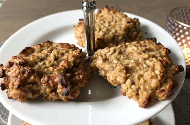 Erdnussbutter Haferflocken Kekse – die nussigen